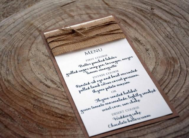 wedding photo - Simple Wedding Menu, Wedding Dinner Menu, Bridal Shower Menu, Rustic Wedding Dinner Menu, Rustic Wedding Menu, Burlap Wedding Menu