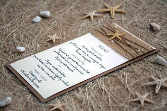 wedding photo - Beach Wedding Menu, Wedding Dinner Menu, Bridal Shower Menu, Rustic Wedding Dinner Menu, Rustic Wedding Menu, Burlap Wedding Menu