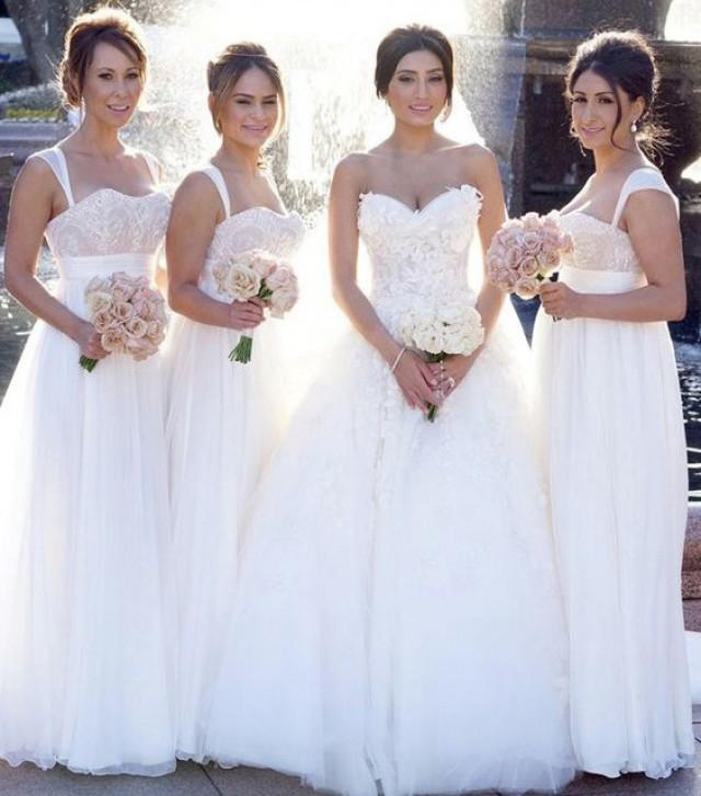 wedding photo - New Arrival Straps Long Bridesmaid Dress Wedding Party