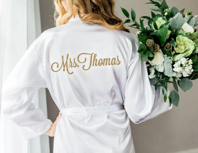 Wedding Robe For Bride And Bridesmaids Bridal Party Robes For Bride To Be Personalized And