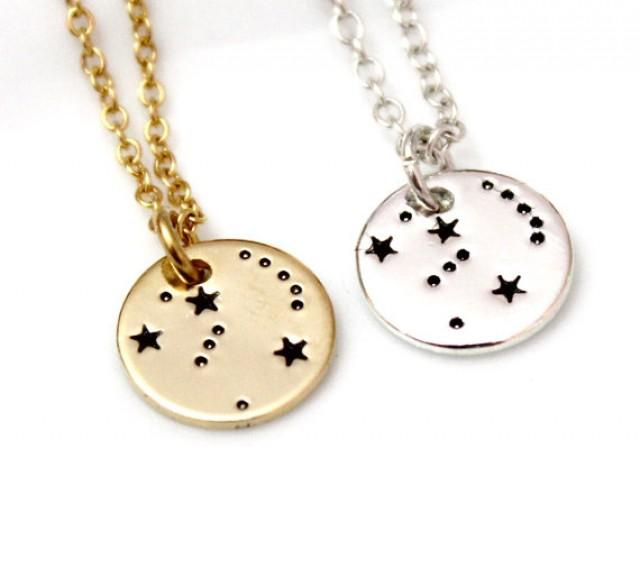 wedding photo - Orion Necklace Sterling Silver, Orion Constellation Necklace, Necklace Horoscope, Orion Constellation Jewelry, Gold Astrology, Orion Gift