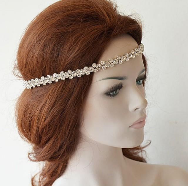 wedding photo - Crystal Headpiece, Hair Accessories, Wedding Headband, Wedding Hair Accessories, Bridal Hair Accessories