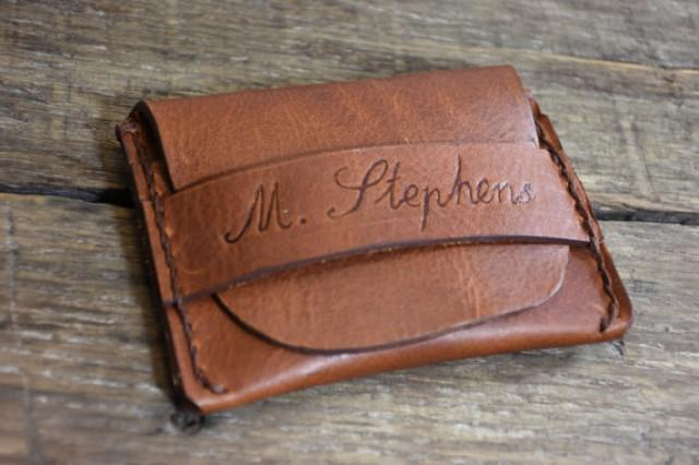 Personalized Leather Wallet Mens Wallet Flap Wallet
