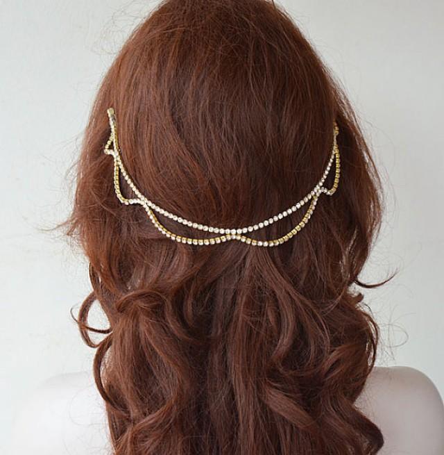 wedding photo - Bridal Hair Accessories, Wedding Rhinestone Headband, Wedding Hair Accessories, Wedding Headband, Bridal Headpiece, Bridal Accessories