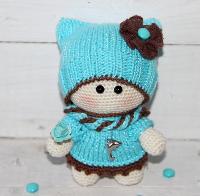 Crochet Doll In Blue Amigurumi Doll Plush Doll Toy Crochet ...