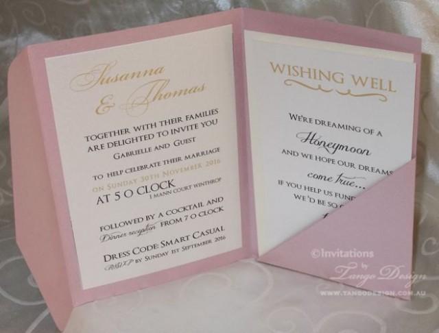 wedding pocketfold invitations 24 invites rsvp cards envelopes set