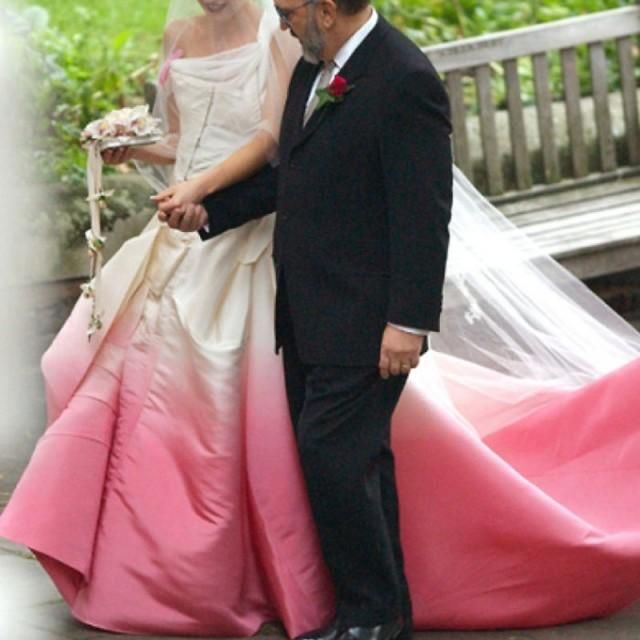 wedding photo - Stylish One Shoulder Court Train Wedding Dress - Colored Train