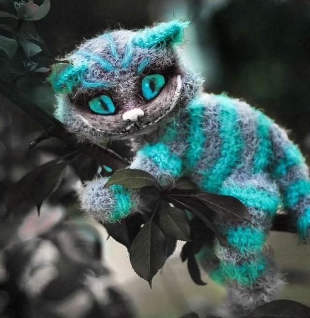Cheshire Cat Amigurumi : Cheshire Cat Plush Toy Hand-Knitted Cheshire Toy Handmade ...