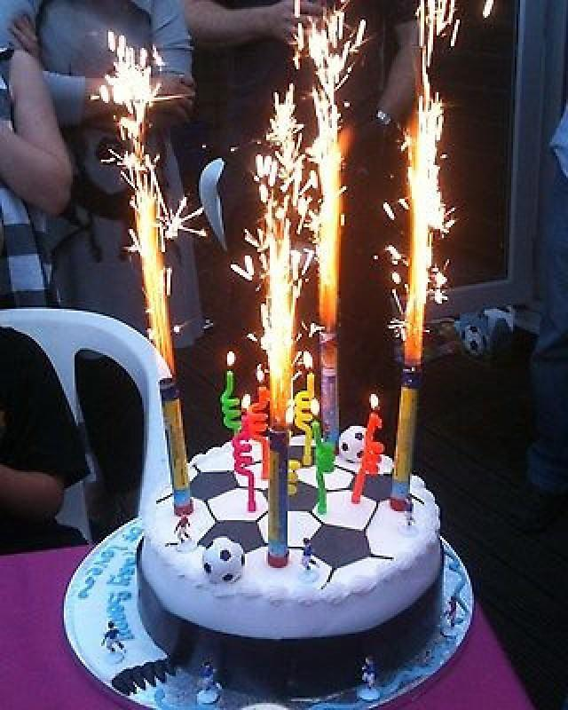 6 Fountain Candles Cake Big Birthday Flame Pack Party Large Long Festive Ice Topper Kids Cracker 2605186