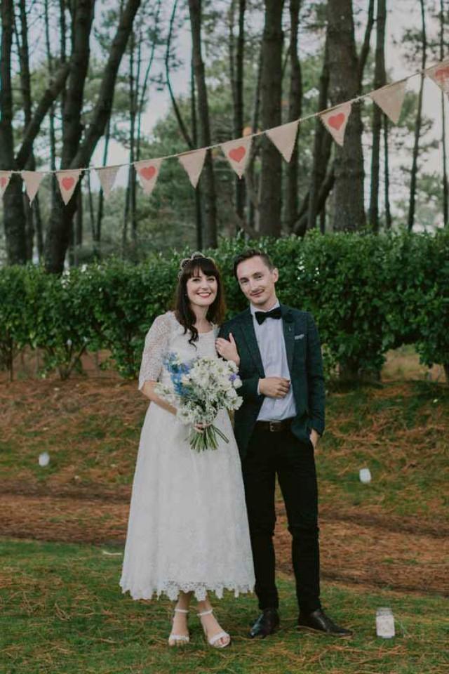 wedding photo - New Zealand Festival Wedding - Polka Dot Bride
