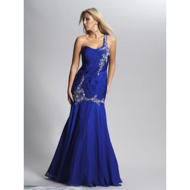 couture chiffon empire long beaded 2013 one shoulder prom