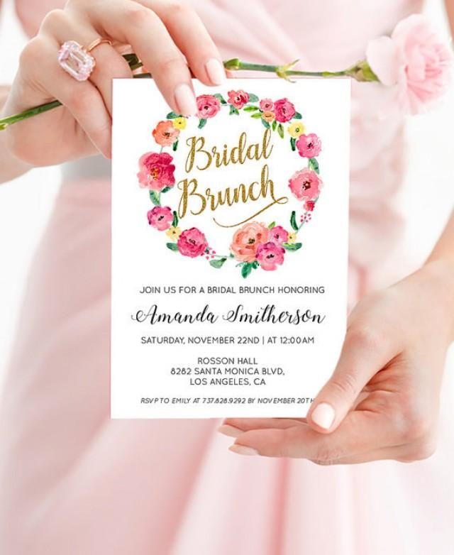 wedding photo - Printable Bridal Shower Brunch Invitation - Floral Shower Invitation - Boho Wedding Invitation - PDF Instant Download WDH0081
