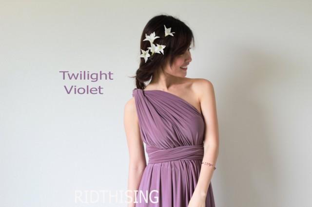wedding photo - Maxi Twilight Violet Bridesmaid Dress Infinity Dress Prom Dress Convertible Dress Wrap Dress