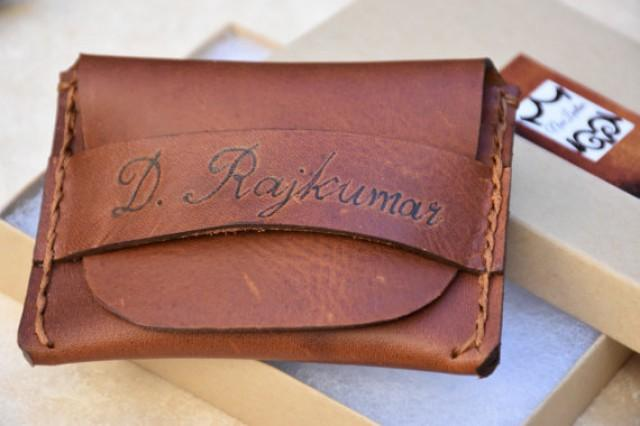 wedding photo - Leather Wallet Leather Mens Wallet Leather Credit Card Wallet Groomsmen Gifts Personalized Wallet