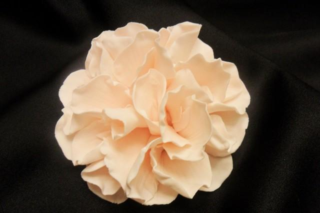 "wedding photo - Beautifully Vintage Sugar Flowers ~ Peony approx. 3"" ~ Gum Paste Flowers ~ Edible cake topper"
