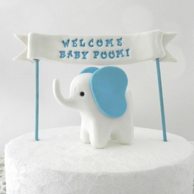 Mommy And Baby Elephant Cake Topper