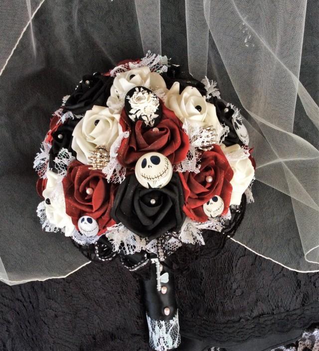 "Halloween Wedding Bouquets: Tim Burton's ""Nightmare Before Christmas"" Wedding Bouquet"