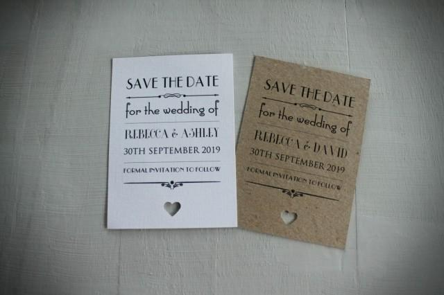 Personalised Magnet Save The Date Evening Vintage/Shabby Chic ...