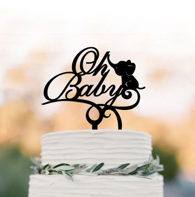 wedding photo - Baby Shower cake topper, party Cake decor, Oh Baby cake topper, oh baby sign cake topper Acrylic cake topper