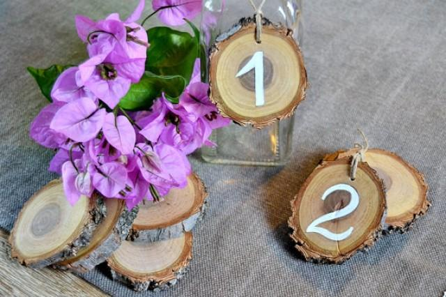 wedding photo - Wedding Table Number Wood Slice. Set of 5. Rustic Wedding Tree Slice Table Numbers. Wood Ornament Table Number.Rustic Outdoor Wedding Party