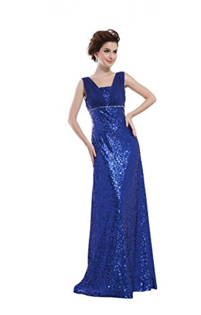 wedding photo - Angelia Bridal Women's Sequin Prom Banquet Evening Dresses