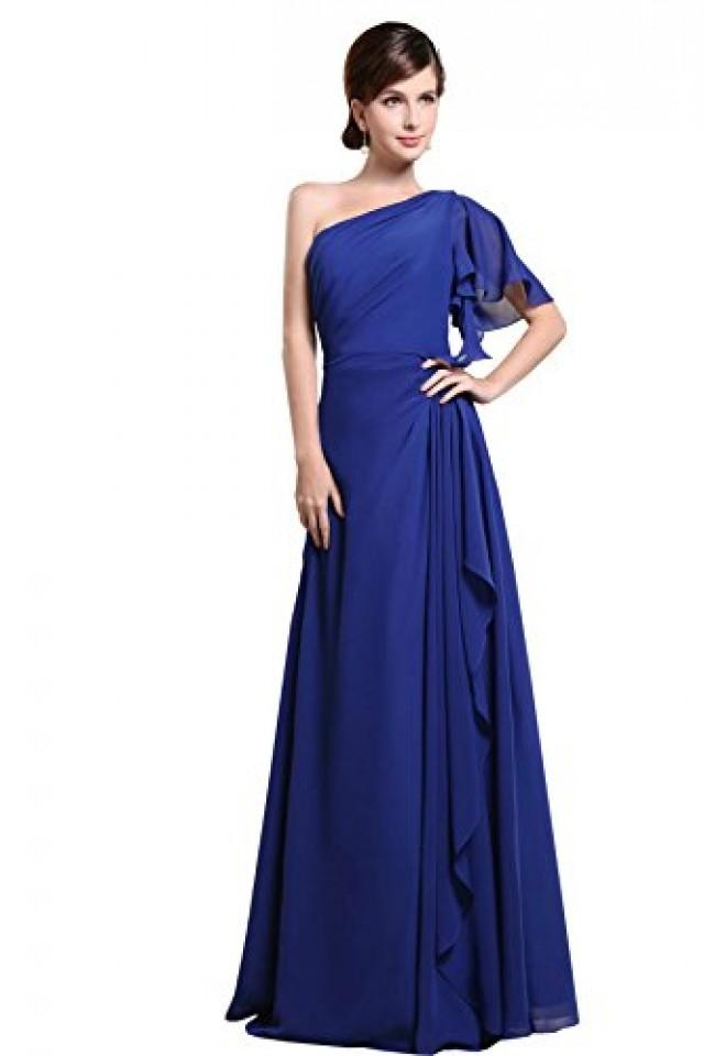 wedding photo - Angelia Bridal Women's One Shoulder Chiffon Bridesmaids Dresses