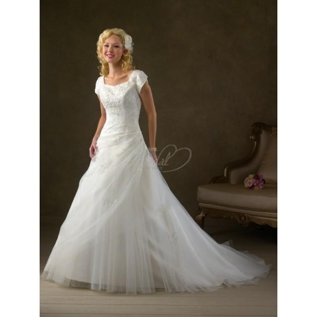 Bliss modest bridal by bonny style 2105 elegant for Elegant modest wedding dresses