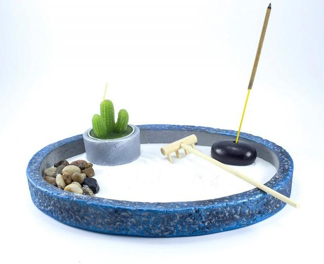 Zen garden diy kit mini zen garden office decor for Zen office design ideas