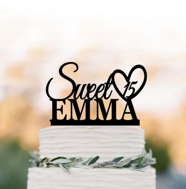 wedding photo - sweet birthday cake topper, personalized birthday cake topper, baby birthday gift, unique cake topper for wedding, custom name and age