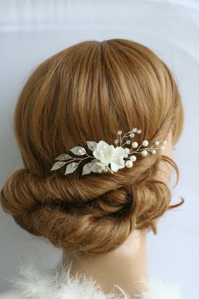 wedding photo - Wedding Hair Pins Bridal hair pins Flower hair pins Bridal flower pins Bridal hair pin Bridal hair clip