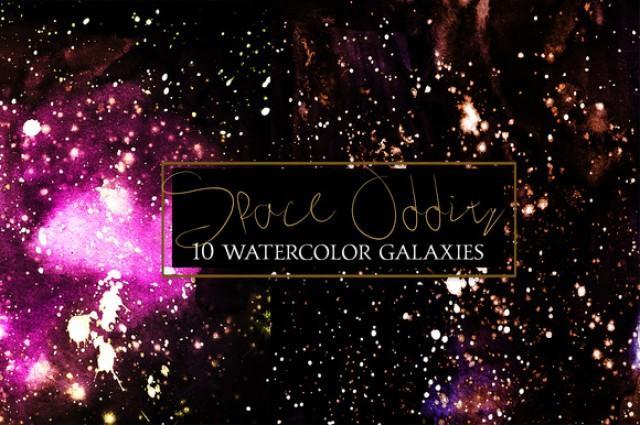 wedding photo - Watercolor Galaxiex Collection