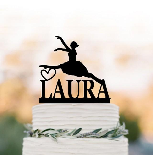 wedding photo - Ballerina birthday cake topper, personalized cake topper, dancer birthday gift, unique cake topper, customized birhday cake topper