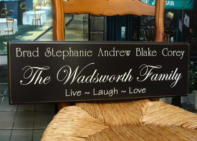 wedding photo - Personalized Family Name Sign...8 x 24 Family Name Sign.....5R27
