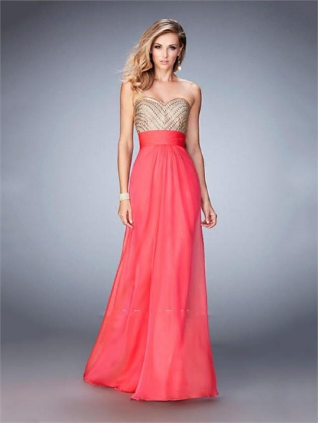 wedding photo - Beautiful Chiffon with Sweetheart Open Back Beaded Bodice Chiffon Prom Dress PD3279