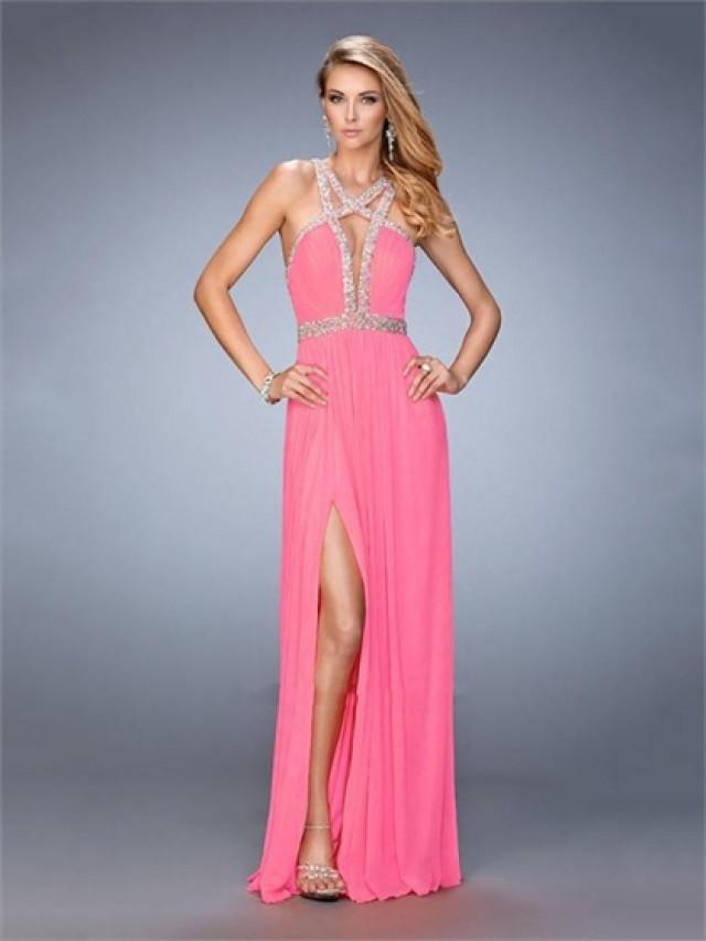 wedding photo - Sexy with cutout Neckline beaded with back waist Prom Dress PD3278