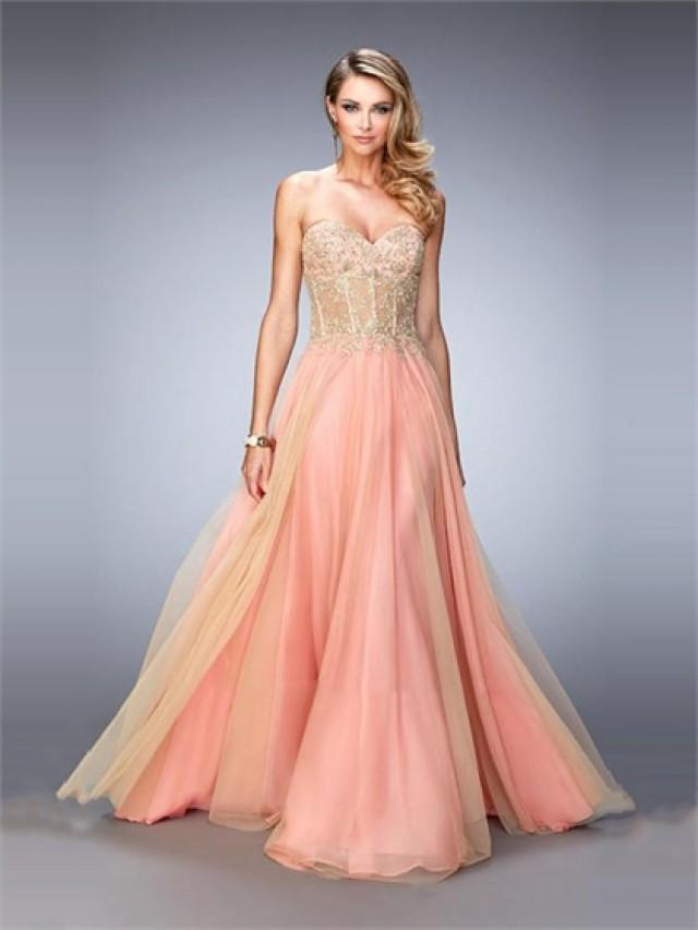 wedding photo - A-line Sweetheart Neckline Beaded Bodice Prom Dress PD3272