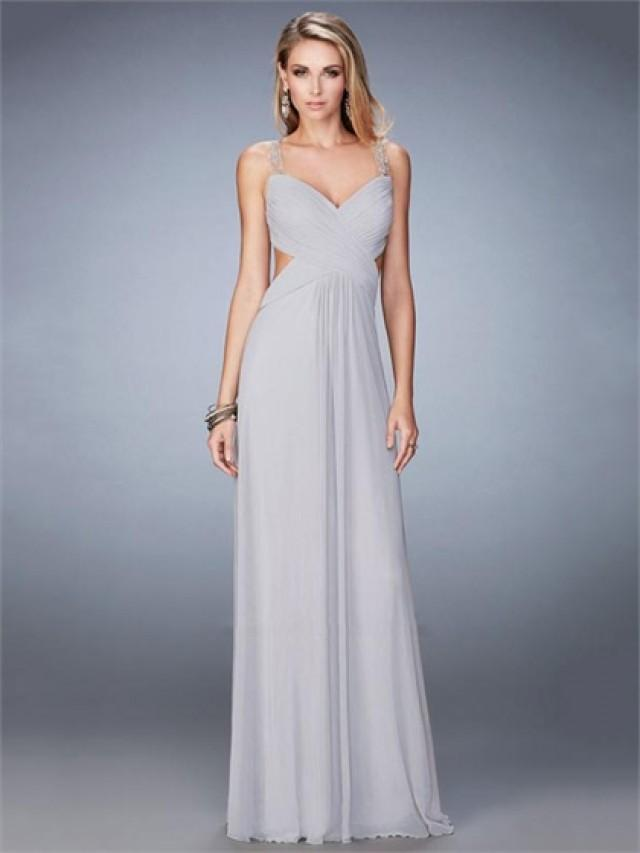wedding photo - Gorgeous Sweetheart Neckline Side Cutouts Sheer Back Prom Dress PD3270
