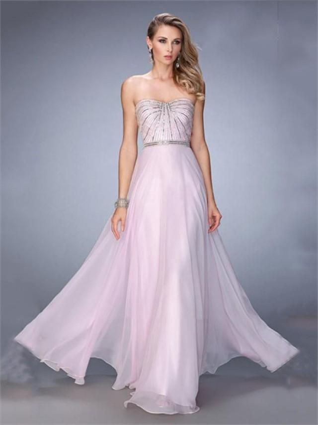 wedding photo - Beautiful A-line Sweetheart Beaded Bodice Chiffon Prom Dress PD3276