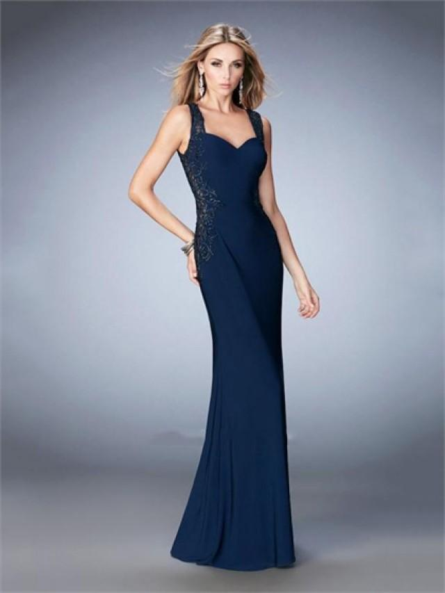 wedding photo - Elegant Sweetheart Neckline Back and Side Sheer Low Back Prom Dress PD3275