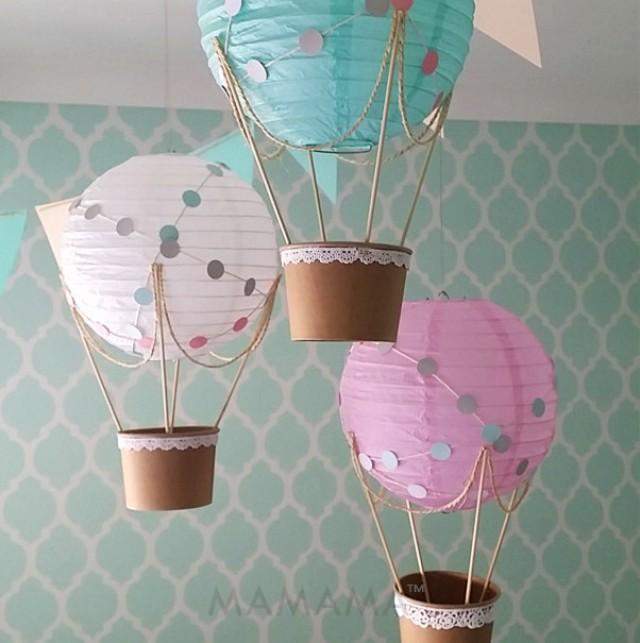Whimsical Hot Air Balloon Decoration DIY Kit Nursery