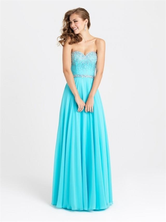 wedding photo - Chic Strapless A-line Beaded Bodice Chiffon Prom Dress PD3194