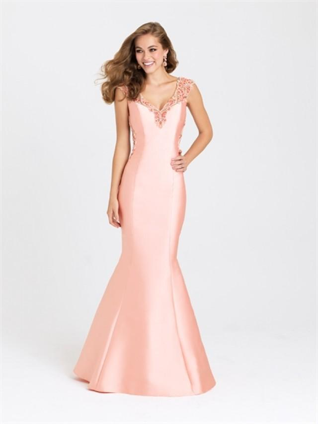 wedding photo - Mermaid With Tank Straps Beadedwork Satin Prom Dress PD3200