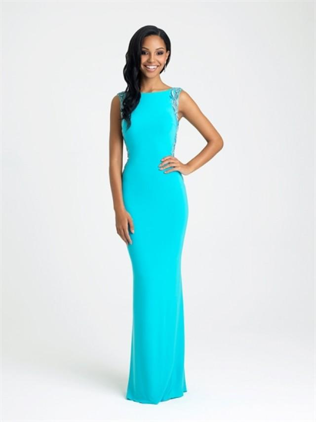 wedding photo - Mermaid Scoop Neckline Dazzling detail in the back chiffon Prom Dress PD3201