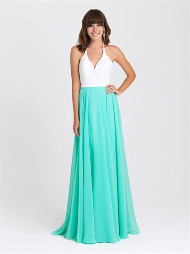 wedding photo - Halter A-line Beaded Bodice Chiffon Prom Dress PD3207