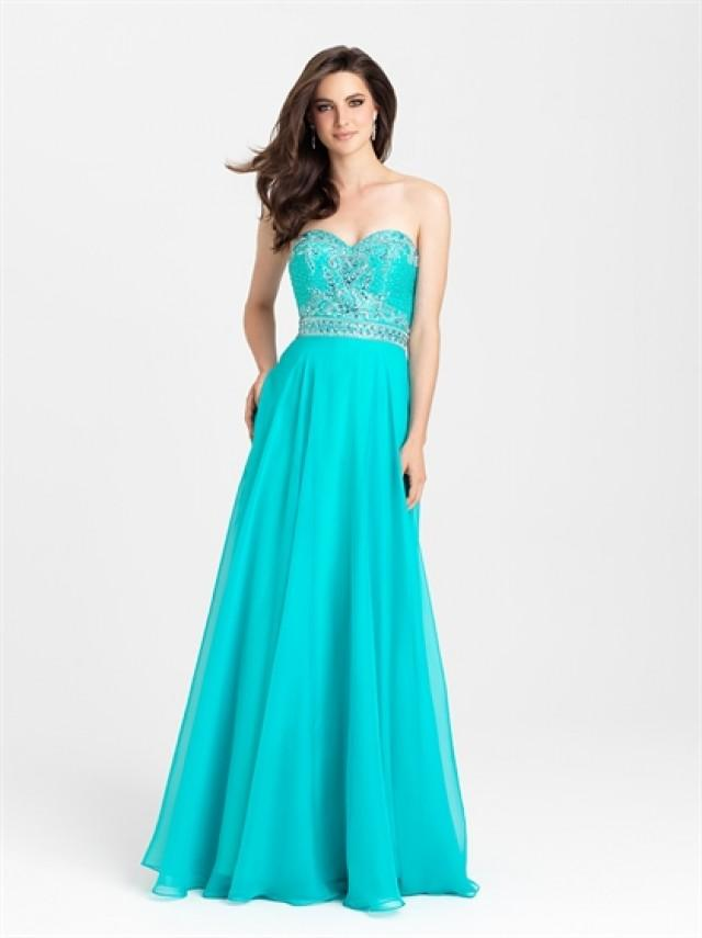 wedding photo - Strapless A-line Appliques Bodice Chiffon Prom Dress PD3206