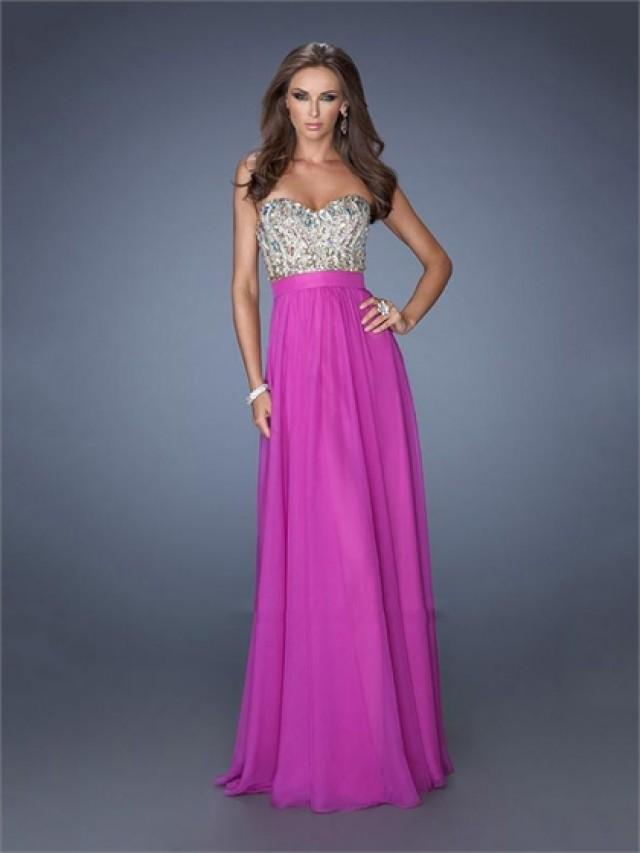 wedding photo - Popular Sweetheart Beadings Sequins A-line Chiffon Prom Dress PD2486