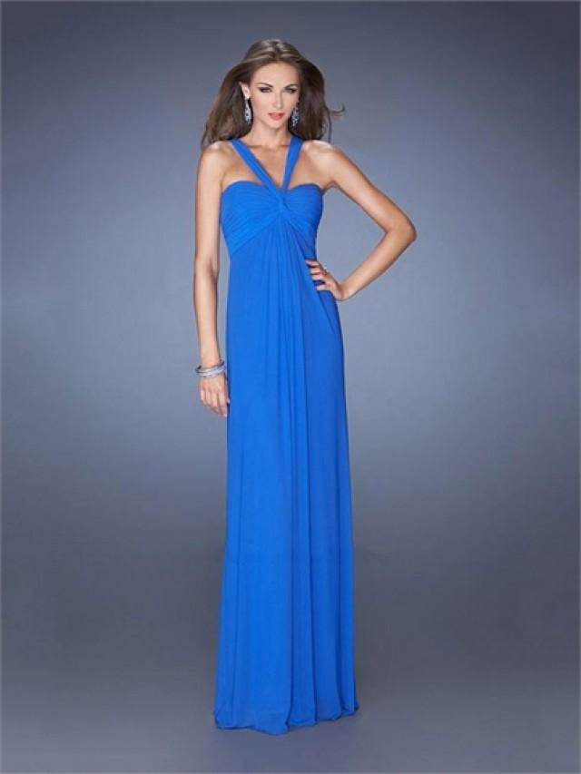 wedding photo - Halter Empire Open Back Floor Length Chiffon Prom Dress PD2491