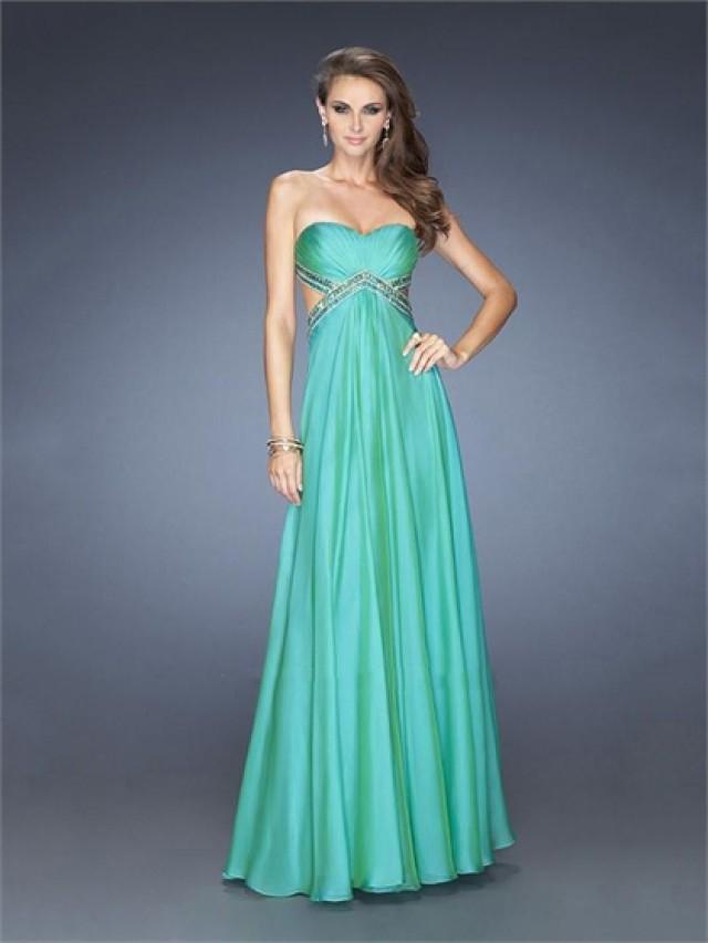 wedding photo - Elegant A-line Sweetheart Cutout Back Chiffon Prom Dress PD2496