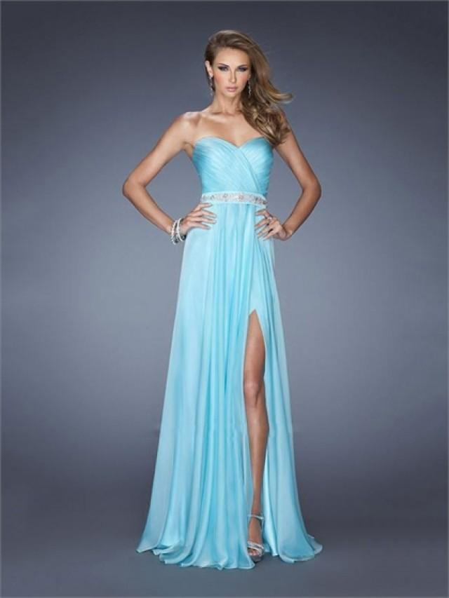 wedding photo - A-line Sweetheart Beadings Floor Length Chiffon Prom Dress PD2598