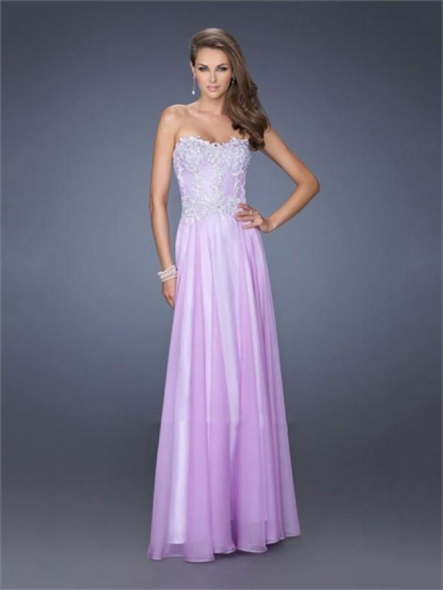wedding photo - Popular Sweetheart A-line Lace Chiffon Prom Dress PD2611